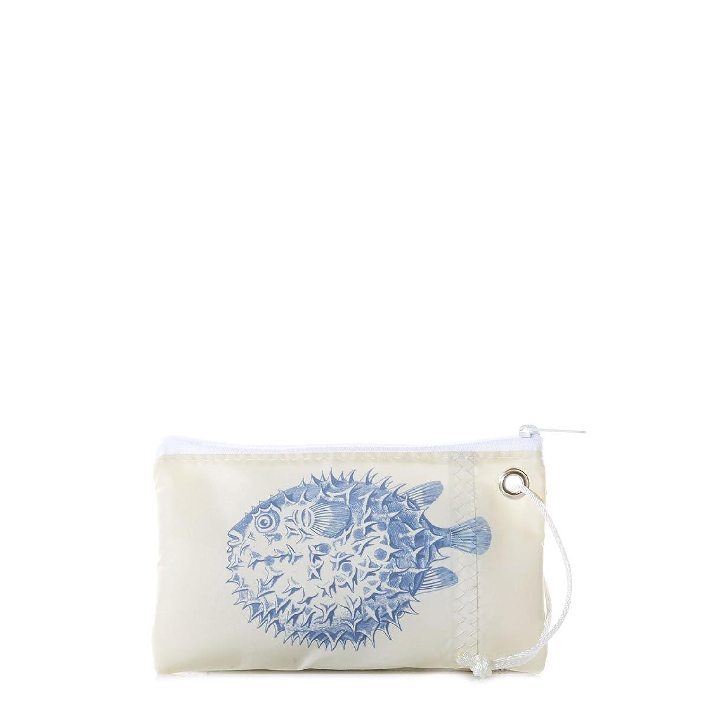 Navy Pufferfish Wristlet