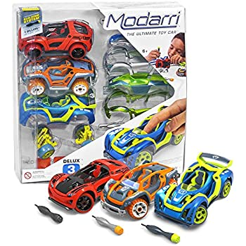 modarri delux 3 pack build your car kit toy set s1x1t1