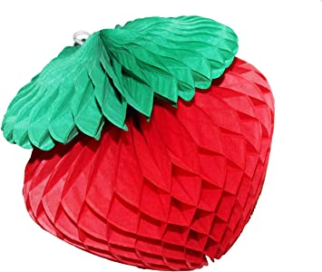 Amazon Com Daily Mall 6pcs 10 Inch 25cm Honeycomb Strawberry Balls Diy Art Tissue Paper Strawberry Balls Wall Decoration Hanging Pom Poms For Party Wedding Birthday Baby Shower Home Decor 10 Strawberry Arts Crafts