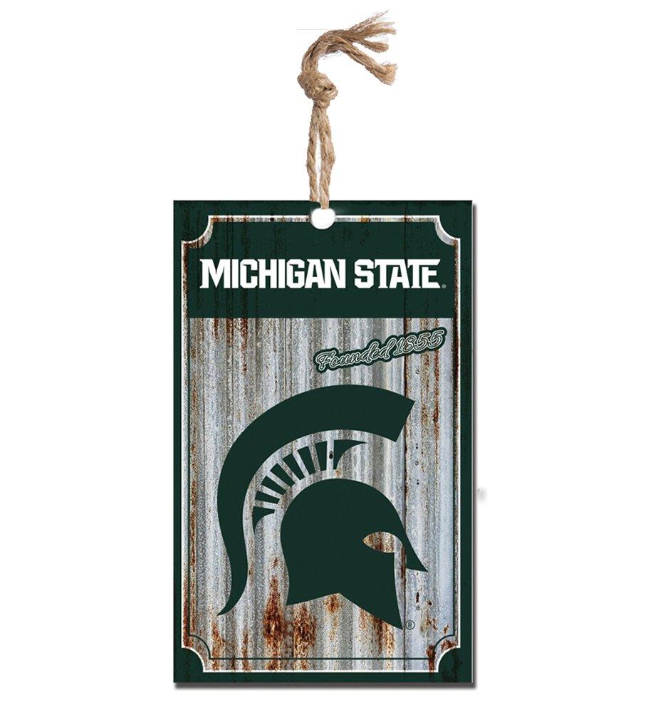 Michigan State University Spartans Corrugate Hanging Christmas Ornament