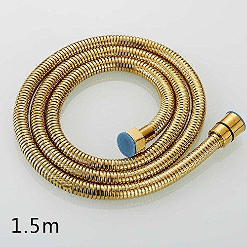 Yanjun 1.5M Flexible Plumbing Hose Bronze Copper Stainless Steel Bathroom Hose Shower Head Hose Double Interlocked White 150cm