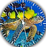 "Best IkEA clock - Sea Turtle Tropical Fish Wall Clock 10"" Will Review"