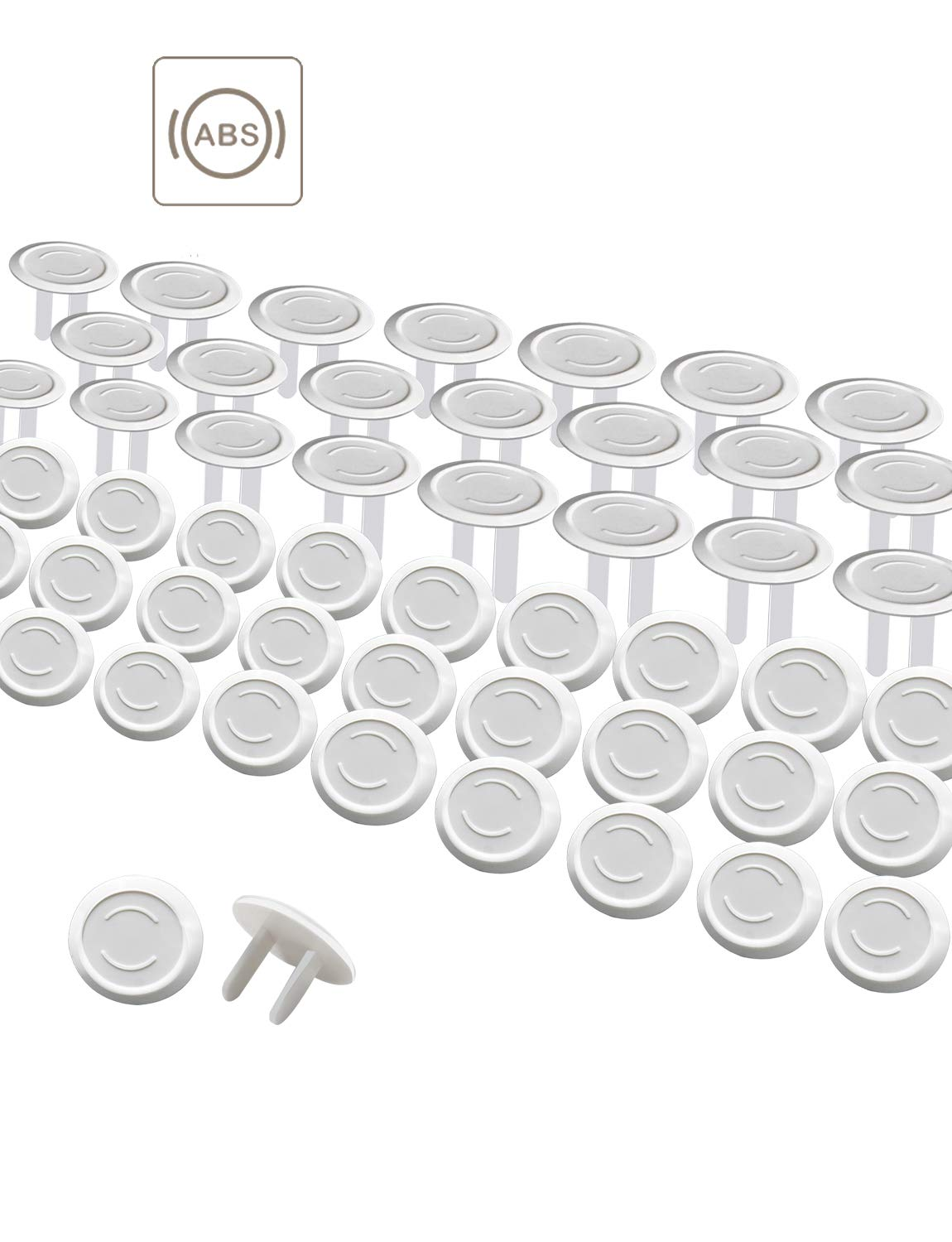 Outlet Covers 50Pack Baby Proof Plug Outlet Covers White Electrical Protector Safety Caps CXY