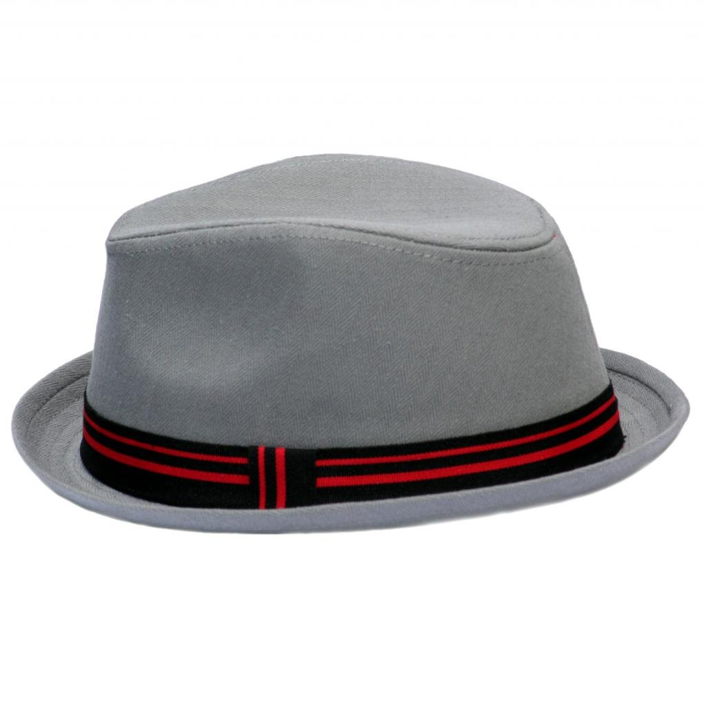 Born To Love Boy's Fedora With Band-Balck Gray Red-L(3-5T)