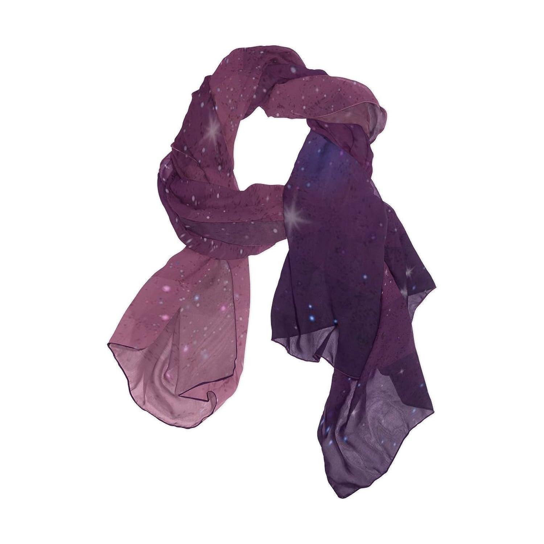Senya Women's Fashion Large Long Sheer Silk Scarf Shawl Wrap, Geometry Galaxy