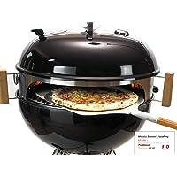Kugelgrill schwarz groß Kettle Grill ✔ Deckel ✔ Grillen mit Holzkohle