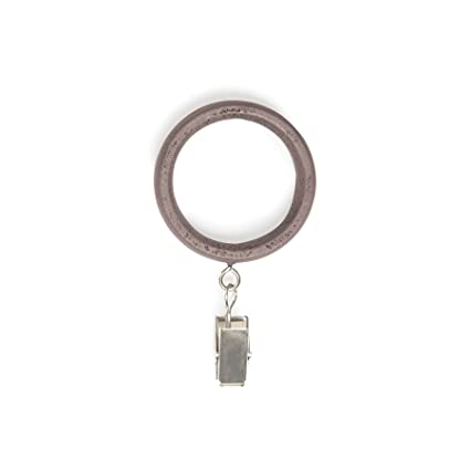 Buy Umbra Wood Clip Rings Extra Large Drapery Rings With Clips For