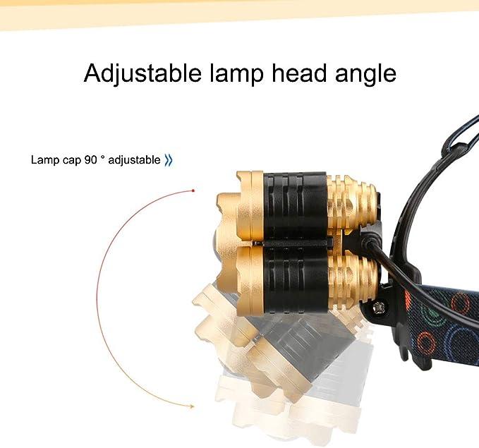 Linterna Frontal LED Recargable, Linterna Frontal Superbrillante ...