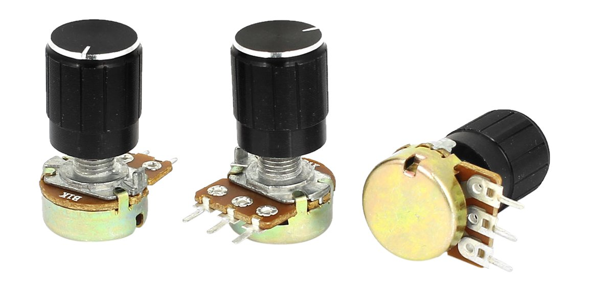 Uxcell a15011600ux0218 3 Piece 1K Ohm Linear Taper Rotary Potentiometer 1KB B1K Pot