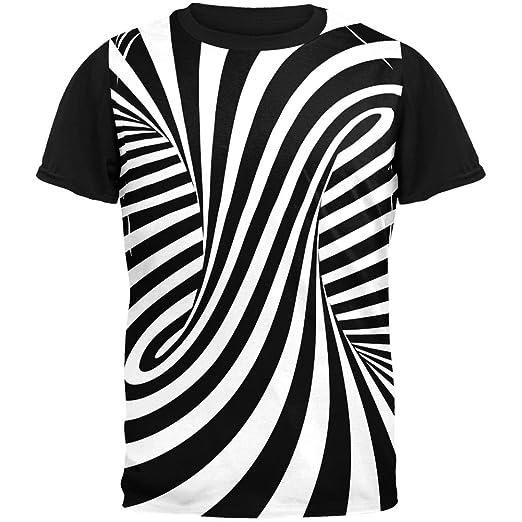 Amazoncom Old Glory Trippy Black And White Swirl Adult Black Back