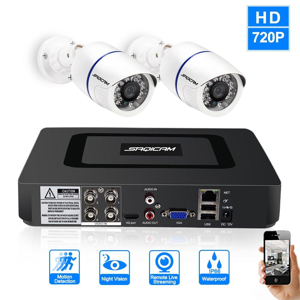 激安本物 SAQICAM Dvr 4Ch 720P防犯カメラシステム1080N Ahd Dvr Hybrid 2作品 2作品 1200Tvl屋外耐候性Cctvカメラ監視キット 4Ch B07D12LP32, オリジナル ボーシ イノウエ:9b5371e6 --- martinemoeykens-com.access.secure-ssl-servers.info