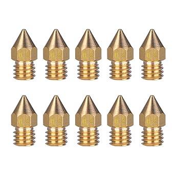 ET - 10 boquillas extrusoras de latón para impresora 3D, cabezal ...