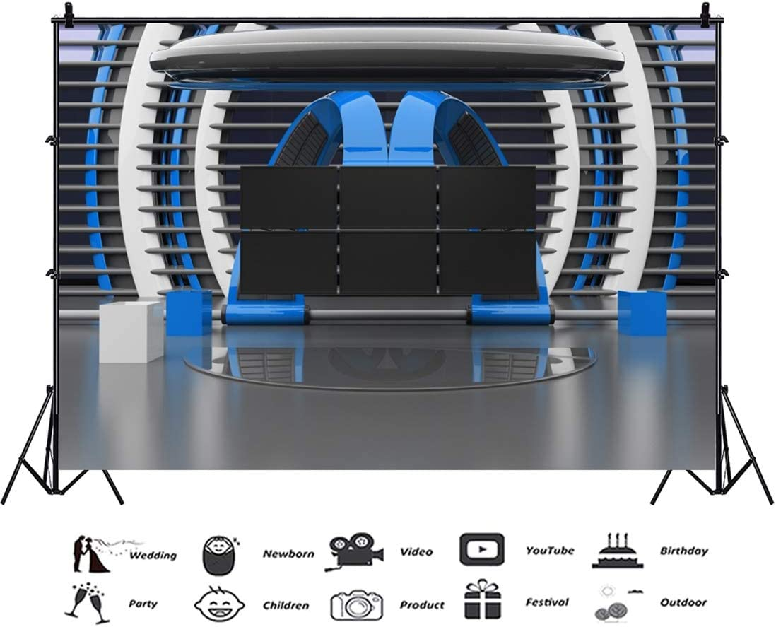 Yeele-TV Studio-Background 10x8ft Photography Background Media Television Room Screen Camcorder Broadcast Monitor Photo Backdrops Birthday Decoration Pictures Studio Props Wallpaper