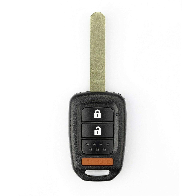 FikeyPro Keyless Entry Remote Control Car Key Fob fits Honda CR-V HR-V FIT CROSSTOUR MLBHLIK-1T 3-Button