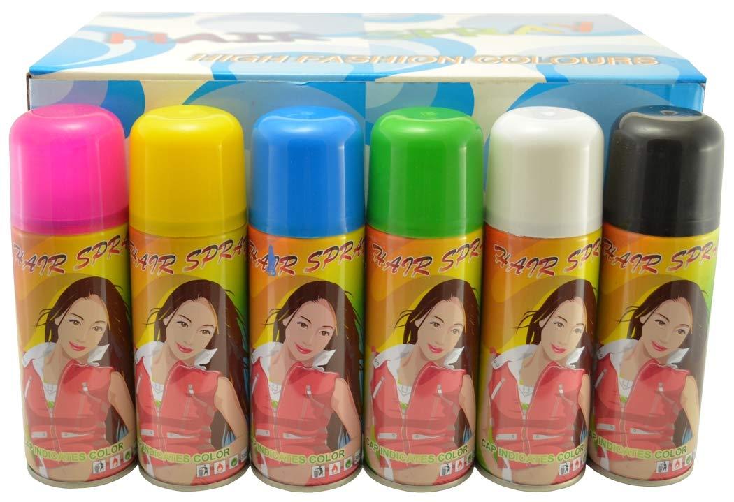 Amazon Com Temporary Hair Color Spray 3 Oz Case 24 Cans Halloween Hair Spray Beauty