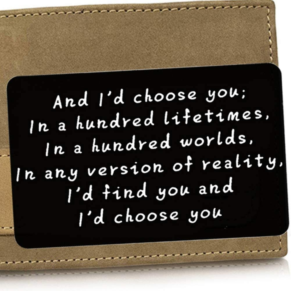 Id Choose You Personalized Wallet Card Insert