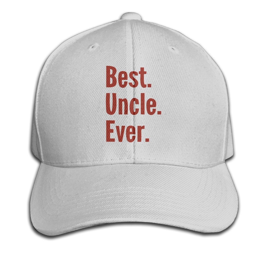 Best Uncle Ever Hat Printed Velcro Cherished Baseball Sports Flat Peak Casquette Caps