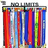 Visual Elite | No Limits | Sports Medal Display Hanger Hand-Forged Black Metal Hanger Design For Marathon, Running, Race, 5K, Wrestling, Jiu Jitsu, Spartan, Etc. The Medal Hangers Collection