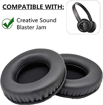 YunYiYi Almohadillas de Repuesto para Auriculares de Espuma de Color Negro para Auriculares Creative Sound Blaster Jam