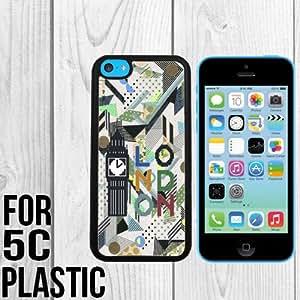 London Scene Background Custom made Case/Cover/skin FOR iPhone 5c -Black - Snap On Plastic Case