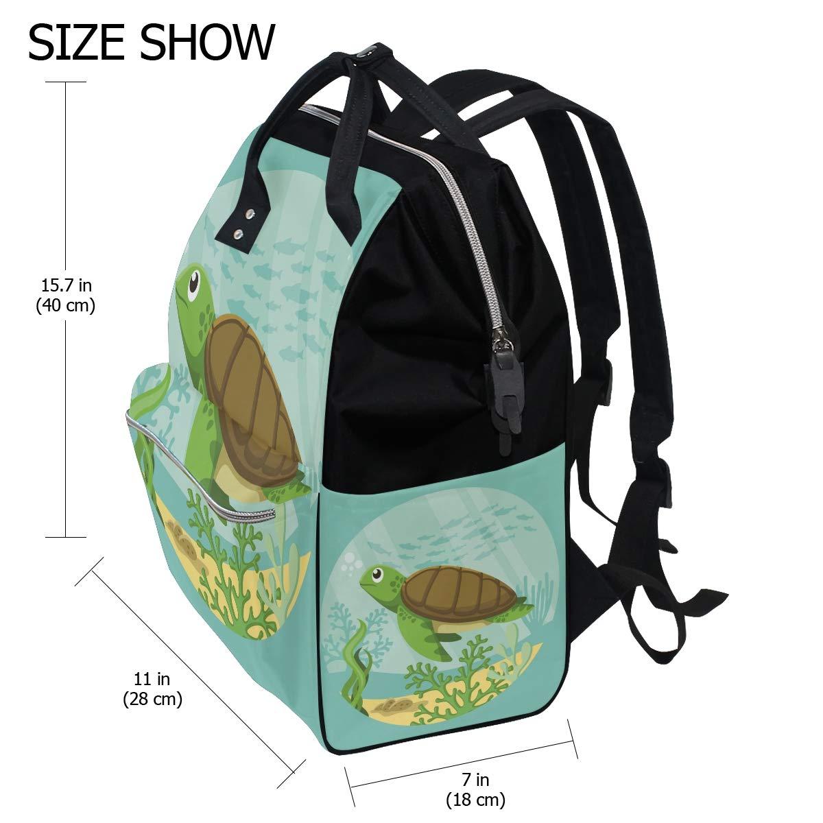 Amazon.com: Mochila de viaje con diseño de tortuga marina ...