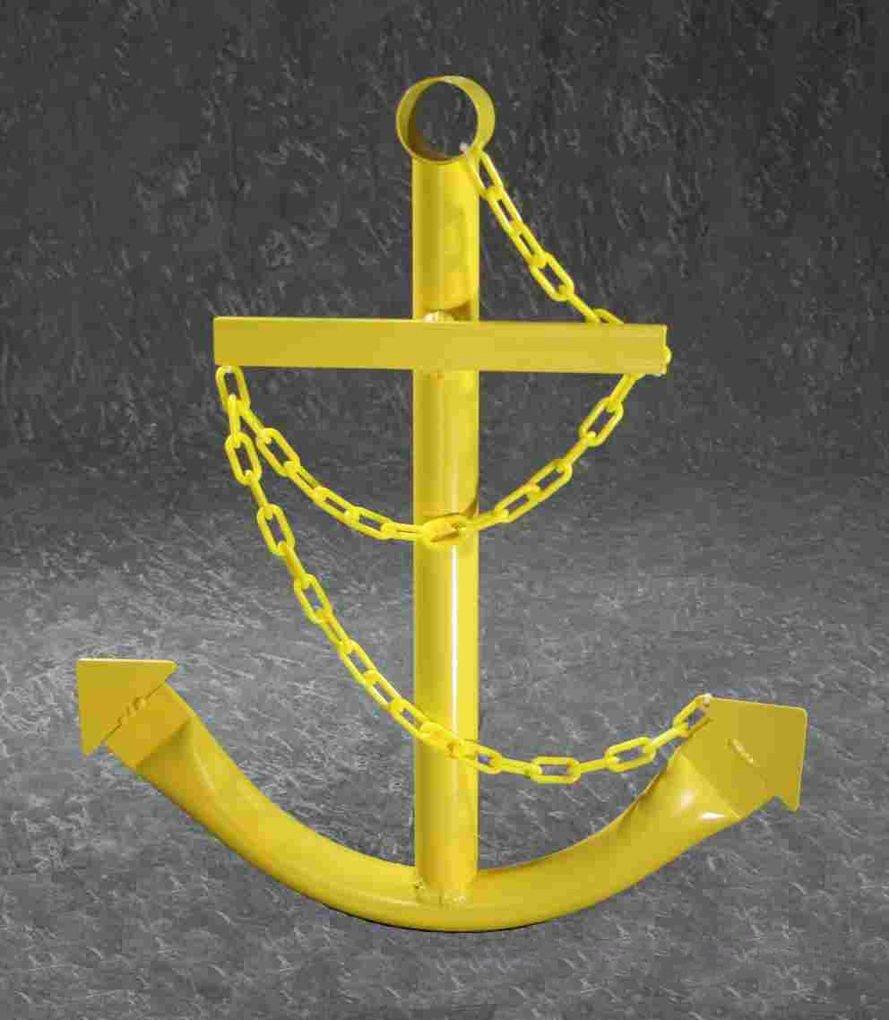 Amazon.com : Navy Ship Anchor Metal 2\' Nautical Wall Art Yard Decor ...