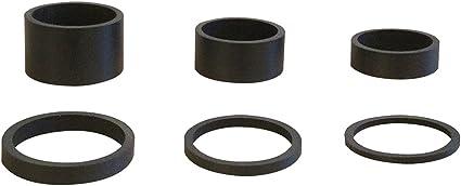 6PCS Light Weight UD Carbon Matte Black Headset Spacers 1 18-2mm,3mm,5mm,10mm,