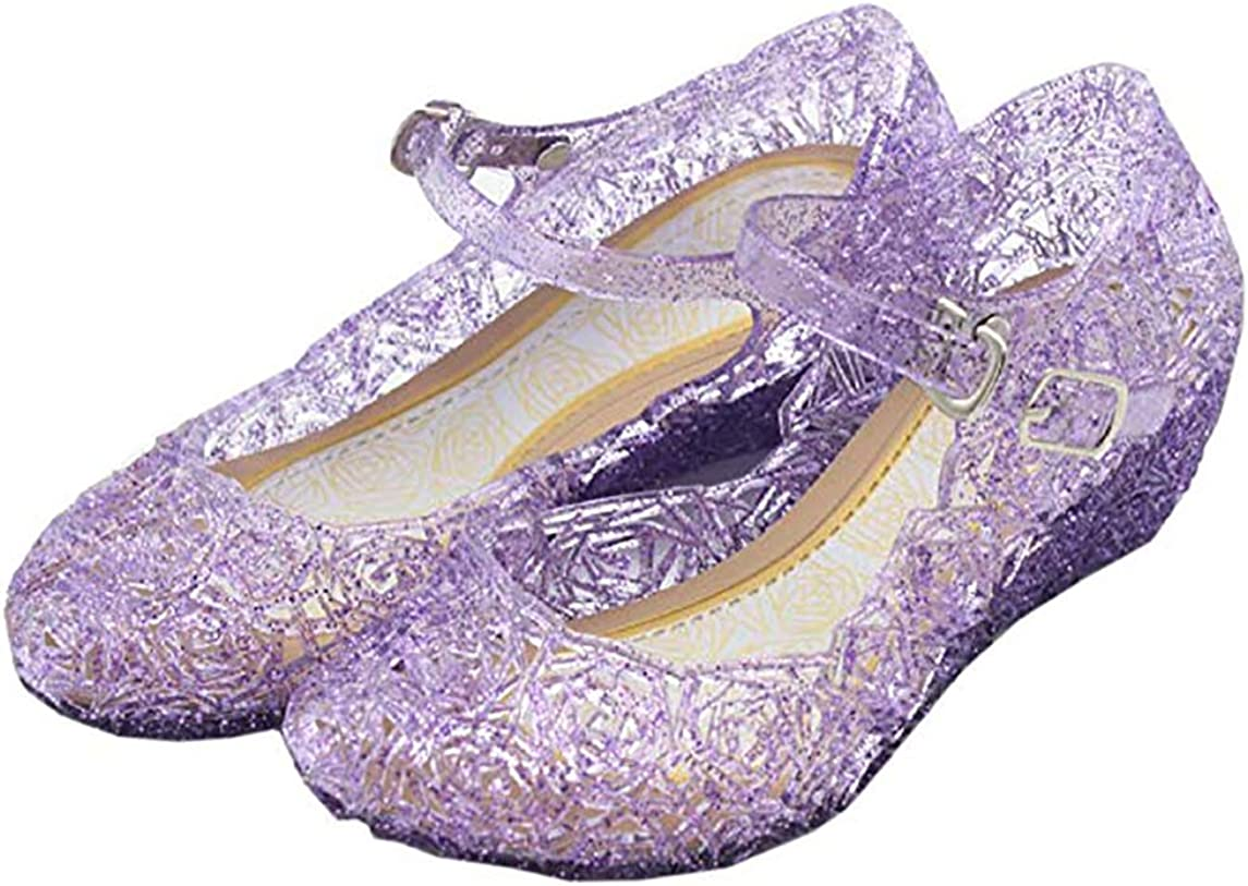 CQDY Blue Girl/'s Princess Shoes Cinderella Elsa Frozen Toddler Cosplay Dancing Show Shoes Toddler//Little Kid