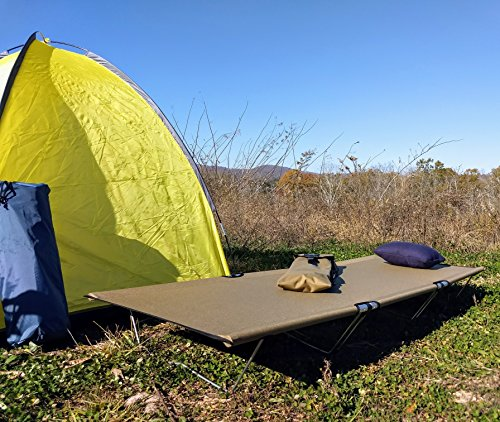 Go-Kot Regular Portable Folding Camping Cot, Coyote Brown by Go-Kot (Image #7)