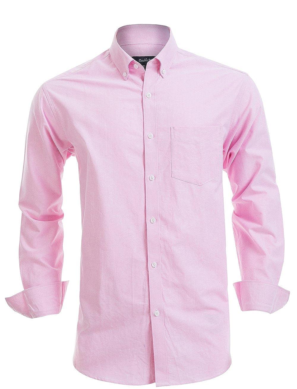 04ec155a040 Double Pump Mens Button Down Shirts 100% Cotton Long Sleeve Shirts Regular  Fit