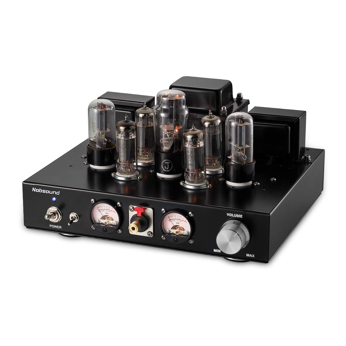 Nobsound 6P1 6.8W 2 Vacuum Tube Power Amplifier; Stereo Class A Single-Ended Audio Amp Headphone Amplifier Handcrafted (with Headphone Amp Function)