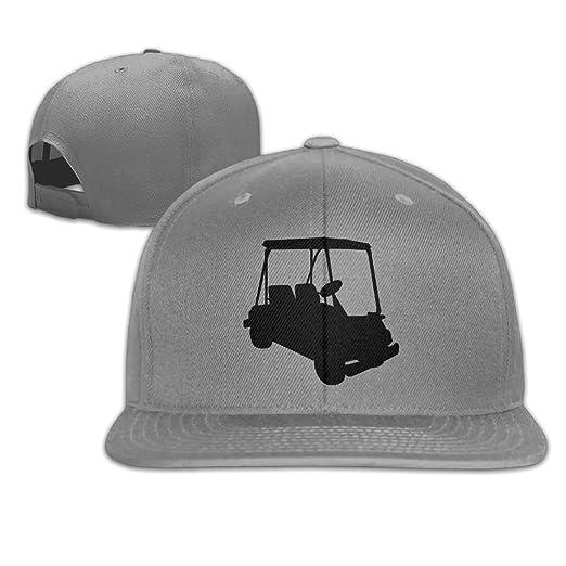 Amazon.com  Aiguan Golf Cart Flat Visor Baseball Cap - Designed Snapback Hat  - 8 Colors  Clothing ff49d67c64d