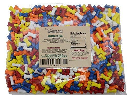 Yankee Traders Brand Bonz Assorted Dog Bone Shaped Candy, 2 Pound