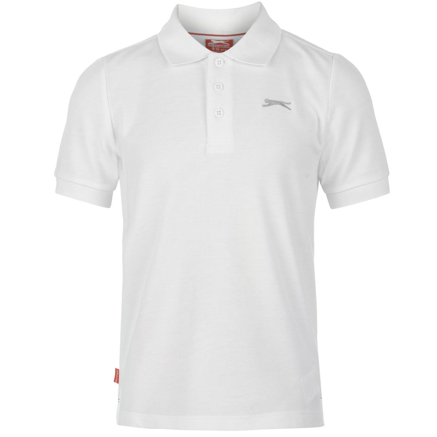 Slazenger Kids Junior Boys Plain Polo Short Sleeve T Shirt Tee Top Clothing