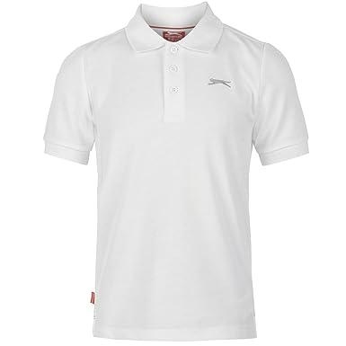 dcf500ac5 Slazenger Kids Junior Boys Plain Polo Short Sleeve T Shirt Tee Top  Clothing: Amazon.co.uk: Clothing