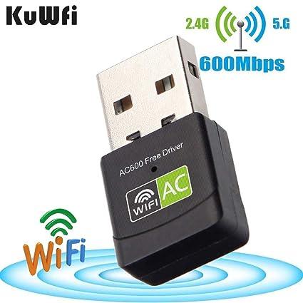 KuWFi Free Driver Wireless USB WiFi Adapter ,600Mbps Wireless Mini USB WiFi Adapter Network LAN