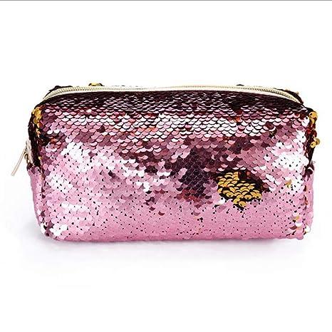 Amazon.com: Kasla - Bolsa de maquillaje reversible con ...