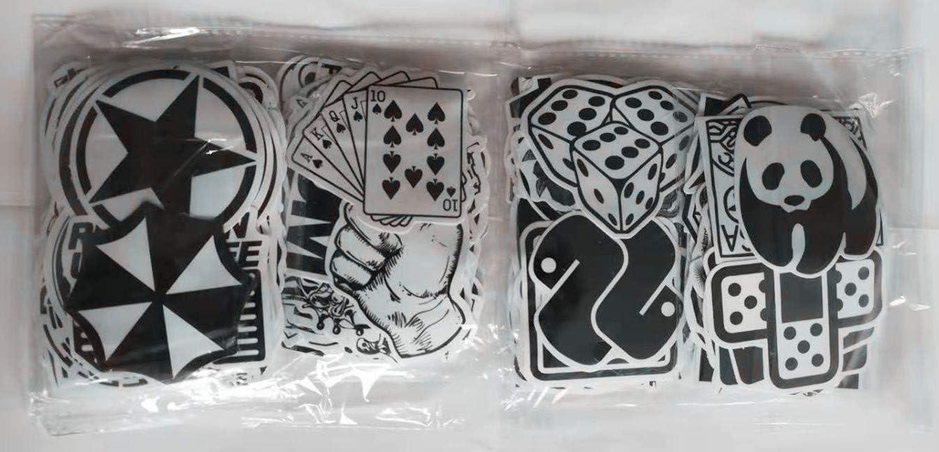 Bicicletas Negro y Blanco Graffiti Decals Bumper Pegatinas para Coche Barcos monopat/ín Versi/ón B: 120-B malet/ín de Viaje Motocicletas Rheinburg 120 Pegatinas port/átiles y Superficies Lisas