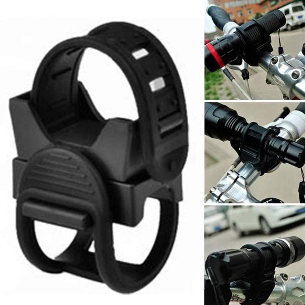 LanLan Supporto di Montaggio per Bicicletta Luce Torcia,Rotazione a 360 Gradi Supporto per Faro Universale per Bicicletta Supporto per Torcia MTB per Bicicletta
