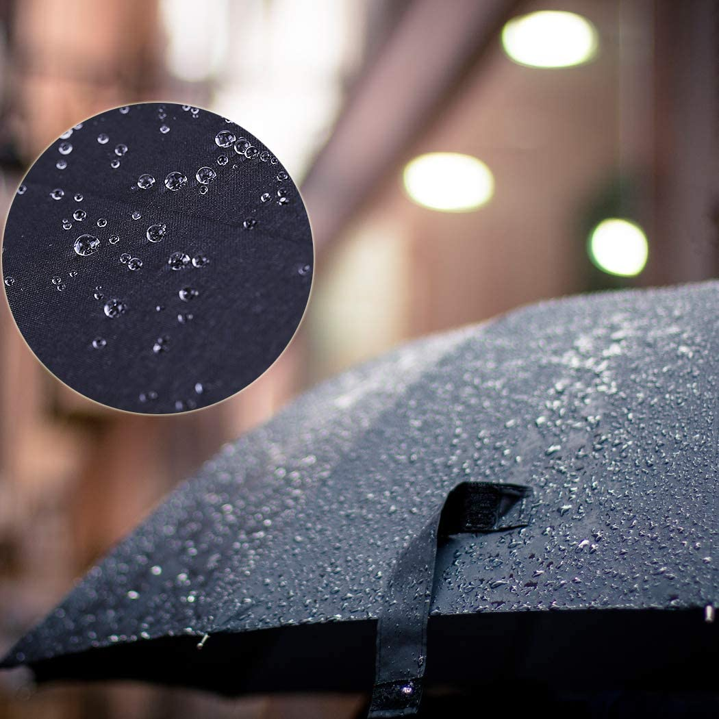 Umbrella Travel Compact Folding Windproof Dorm College Black