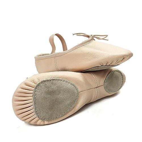 DANCE YOU DANCEYOU 1102 Zapatos de Ballet Zapatillas de Gimnasia de Cuero Ballett Zapatos Zapatos gimnásticos