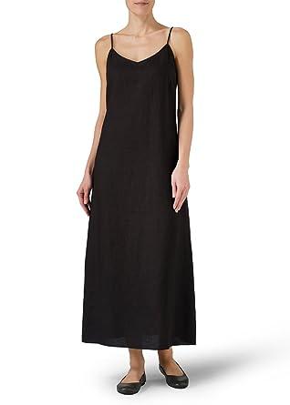 3eb6dbd14d Vivid Linen Spaghetti Strap Extra Long Dress at Amazon Women s ...