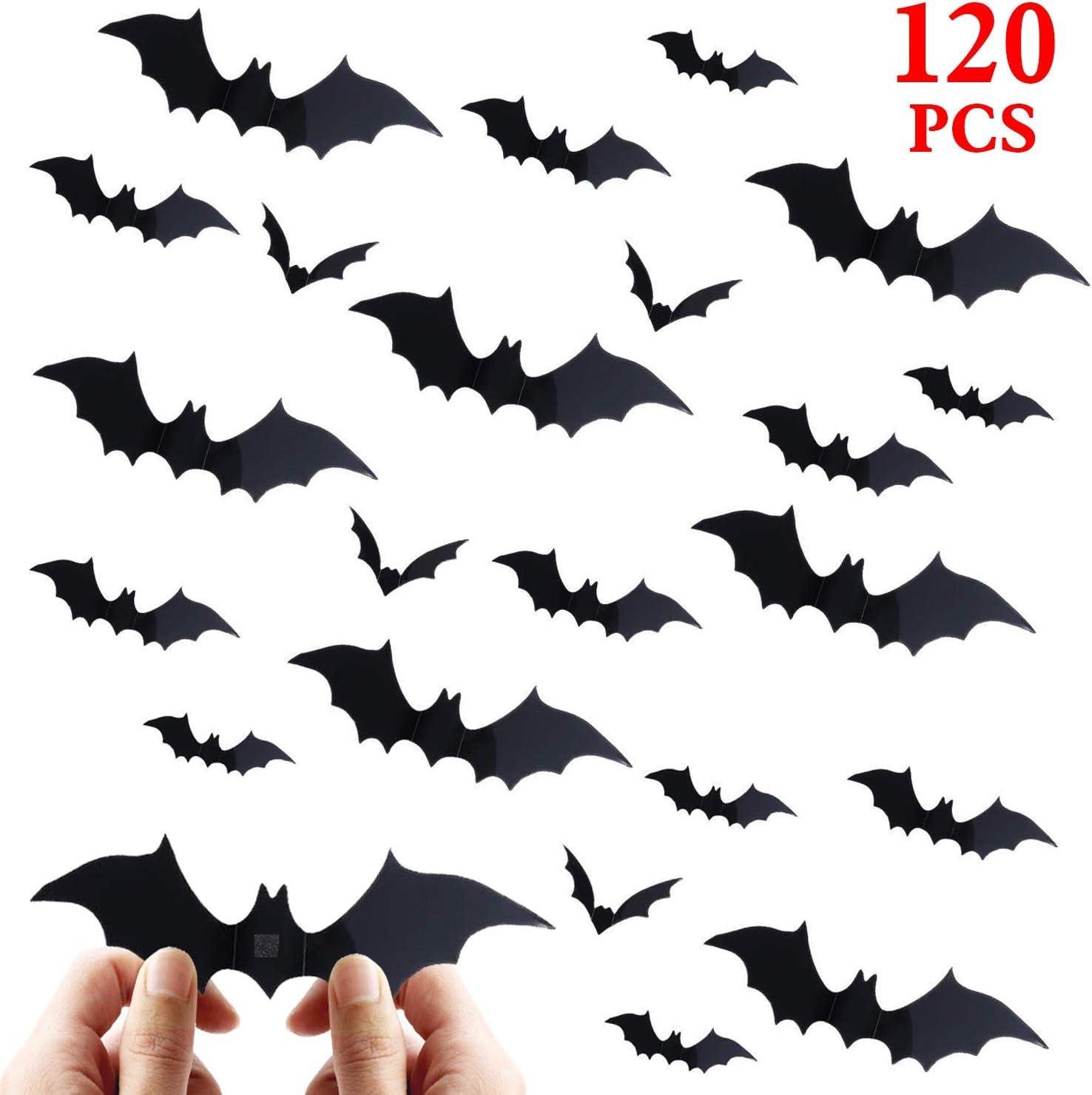 Amazon Com Halloween Bat Decorations Party Supplies 120 Pcs 3d