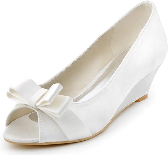 Scarpe Sposa Numero 42.Elegantpark Wp1402 Scarpe Da Sposa Cuneo Peep Toe Bianco 42