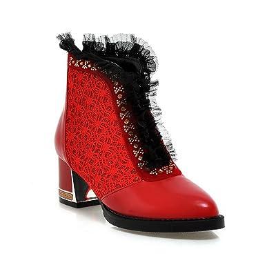 AdeeSu Sxc02108, Sandales Compensées Femme - Rouge - Red, 36.5 EU