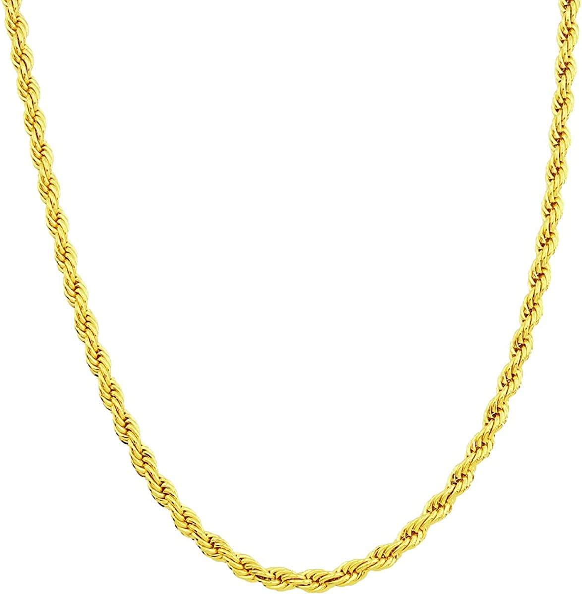 24K Gold Filled Necklace Gold Rope Chain Layering Necklace 1.7 mm 23.6 inch ready to wear chain Rope Necklace