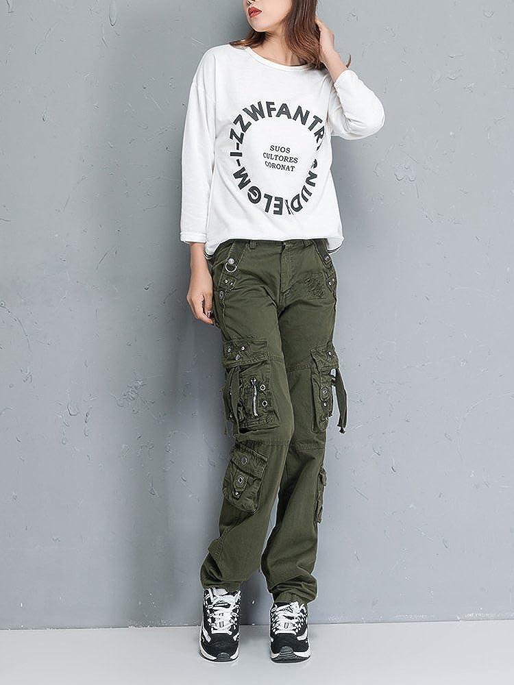 OCHENTA Mujer Uniform Combat Cargo para 8 Bolsillos de Seguridad Pantalones Etiqueta 28-38