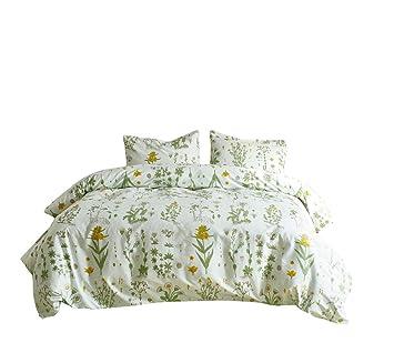 Bettwäschegarnituren Möbel & Wohnen Bettwäscheset Set Kissenbezug 155 X 220 155 X 200 3tlg Weiß Bunte Blumen