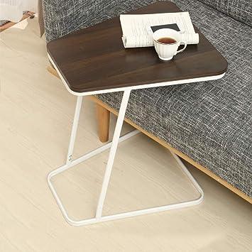 Meiduo Tables Table Snack Home Table En Verre Bois Cadre En