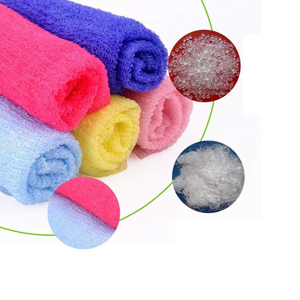 Maca.lina Bathroom Nylon Towel,Exfoliating Shower Body Cleaning,Not Hurt Skin (Blue)